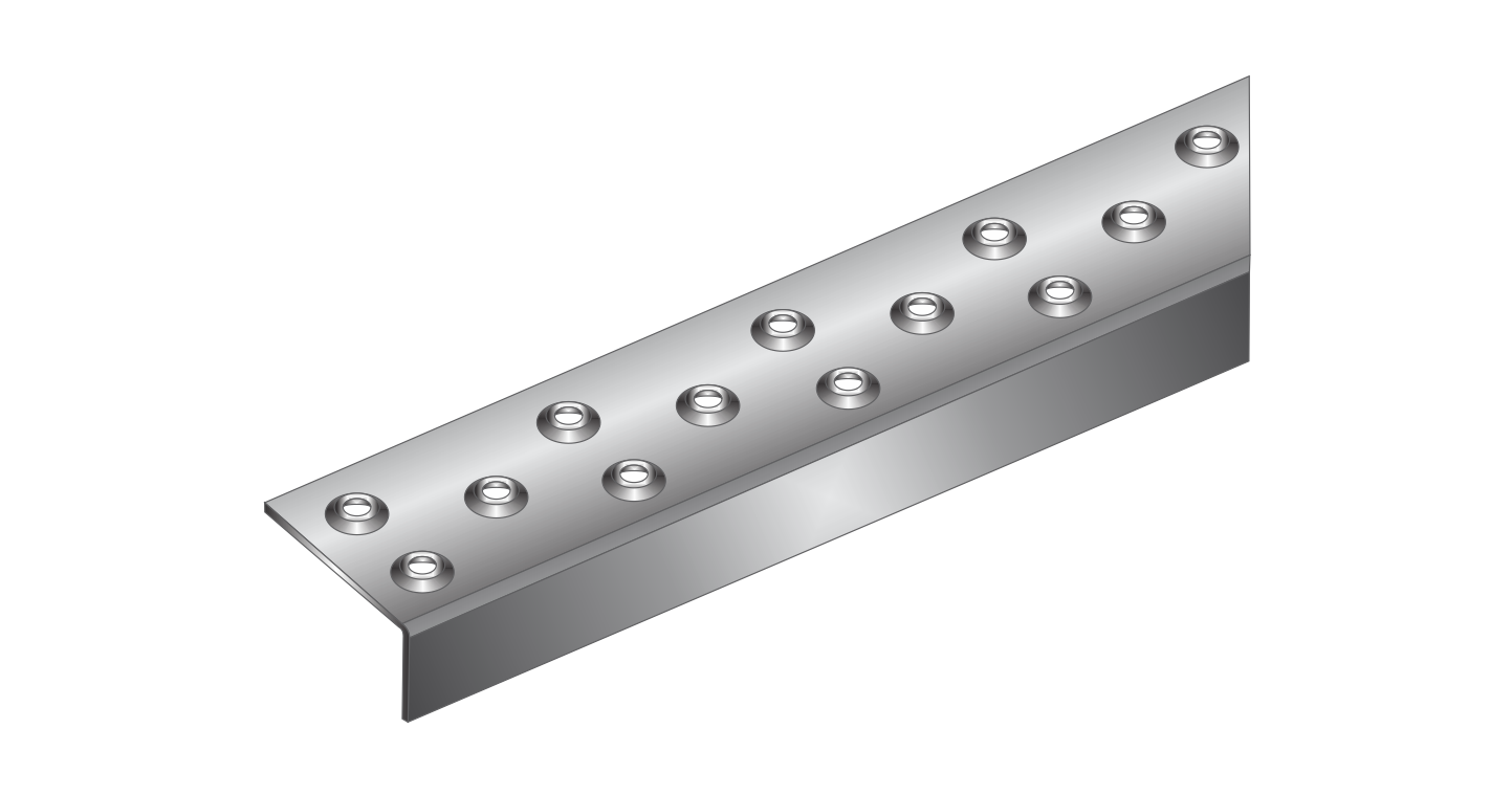 grating accessories used as edging on grating, providing non-slip features.